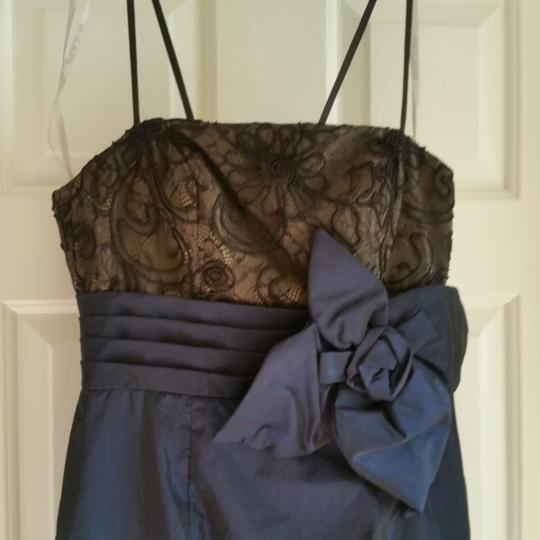Mikael Aghal Navy Sexy Bridesmaid/Mob Dress Size 4 (S)