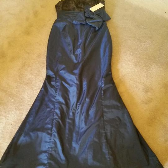 Mikael Aghal Navy Sexy Dress Size 4 (S)