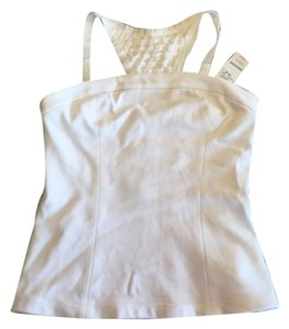 bebe White Halter Top