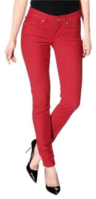 Item - Jester Red Dark Rinse Made & Crafted Empire Skinny Jeans Size 28 (4, S)