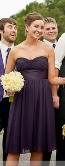 Bill Levkoff Purple Chiffon 542 Formal Bridesmaid/Mob Dress Size 6 (S)