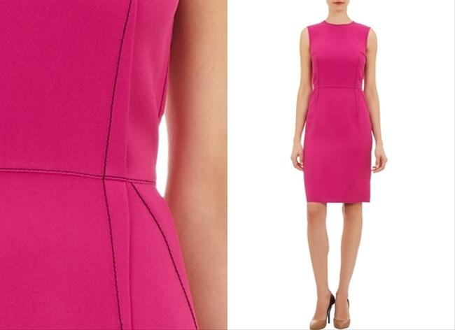 Lanvin short dress Darted Sheath Pink on Tradesy