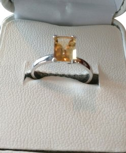Target Beautiful Silver Plated and Synthetic Citrine Stone