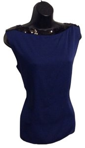 Elie Tahari Top Cobalt Blue