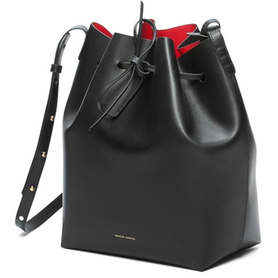 mansur gavriel bucket bag black mansur gavriel cross. Black Bedroom Furniture Sets. Home Design Ideas