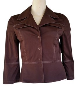 Gianni Bini Cotton Brown Blazer