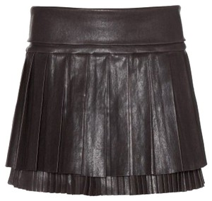 Isabel Marant Leather Pleated Skirt