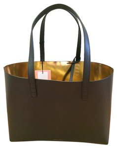 Mansur Gavriel Leather Tote in Black
