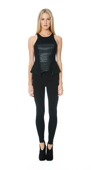 Jay Godfrey Leather Top Black
