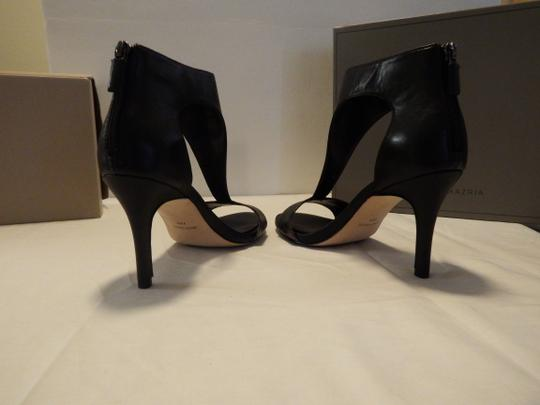 Ann Taylor Peep Toe Ankle Strap Stiletto Suede High Heel Half Boot black Formal
