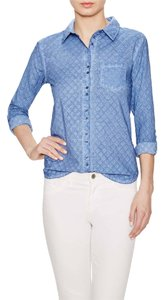 C&C California Eyelit Eyelet Button Down Button Down Shirt Blue