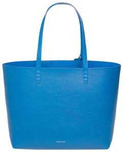 Mansur Gavriel Leather Luxury Italy Fashion Tote in Royal Blue