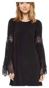 short dress Black Bohemian Free People on Tradesy