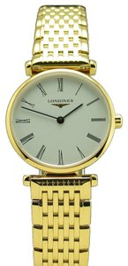 Longines Longines La Grande Classique de Longines Lady's Gold Tone Ultra Thin Quartz Bracelet Watch L4.209.2.11.8 L42092118 Brand New!
