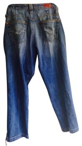 AG Adriano Goldschmied The Split Distressed Capri Cropped Denim Capri/Cropped Denim