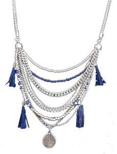 Lucky Brand Lucky Brand Draped Multi Chain Tassle Necklace $45
