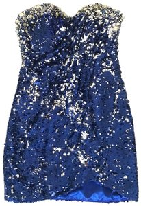 Blue Silver Maxi Dress by Mac Duggal Couture Stone Cold Fox Reformation Lover And Friends Free People Nightcap