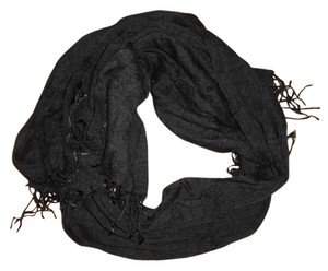 Other Black Lightweight Thin Sheer Stretchy Scarf Wrap