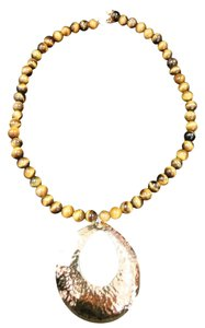 Ross-Simons ROSS & SIMMONS GOLD PLATED STERLING SILVER & TIGER EYE NECKLACE