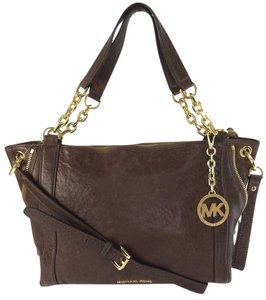 MICHAEL Michael Kors Large Stanthorpe Mocha Leather Tote in Brown