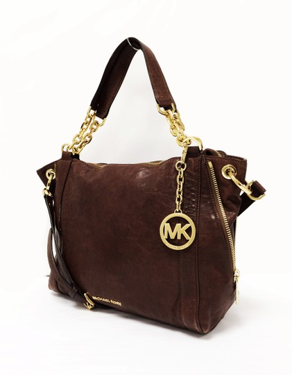 MICHAEL Michael Kors Large Stanthorpe Mocha Leather Tote in Brown Image 1