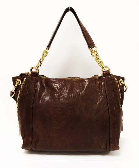 MICHAEL Michael Kors Large Stanthorpe Mocha Leather Tote in Brown Image 11