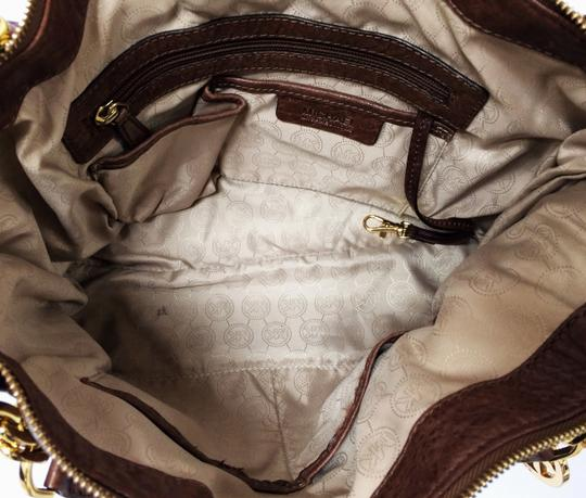 MICHAEL Michael Kors Large Stanthorpe Mocha Leather Tote in Brown Image 3