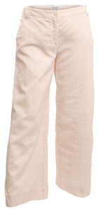 Armani Collezioni Cotton Pinstripe Trouser Pants PINK AND WHITE