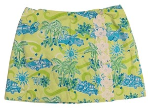 Lilly Pulitzer Mini Skirt Lime green/turquoise/teal