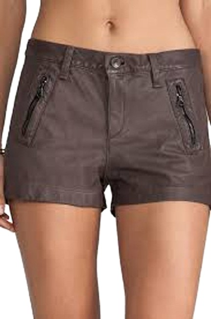 Item - Taupe And Lakshmi Leather Shorts Size 2 (XS, 26)
