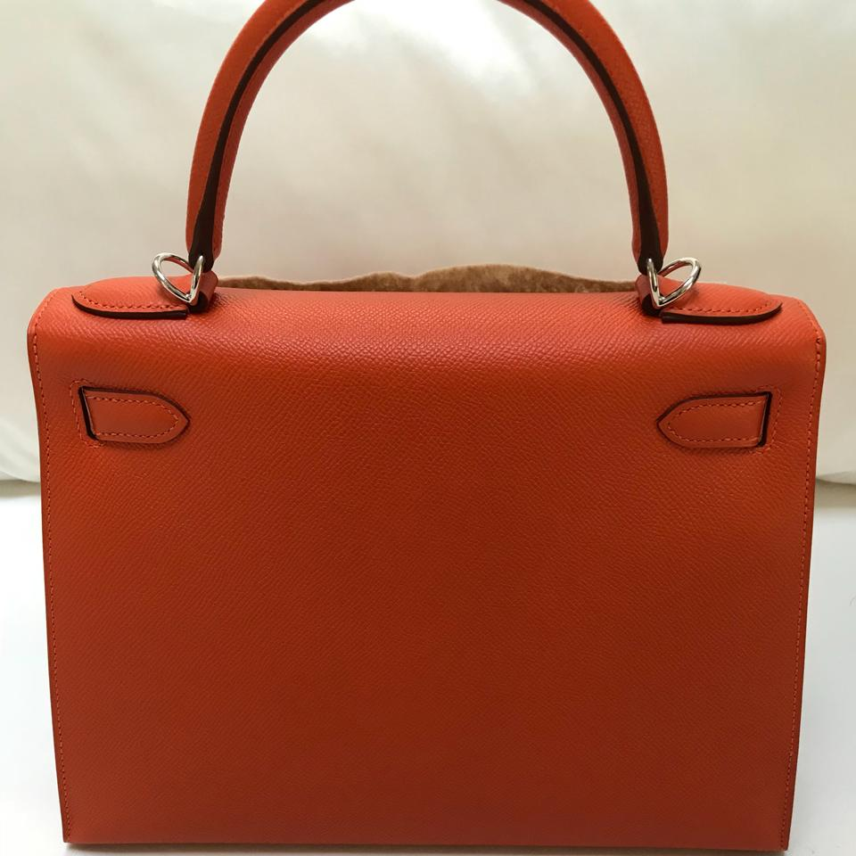 Orange Epsom Feu Bag Kelly 28 Shoulder Hermès wqI7t1x