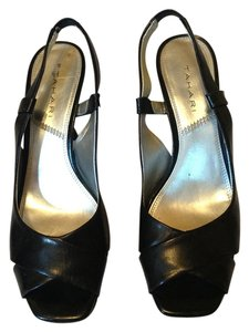 Tahari Leather Black Sandals