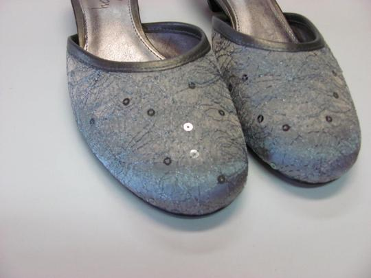Sam & Libby Very Good Condition Size 8.00 M grayish/silver Mules