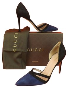 Gucci Black Navy Pumps