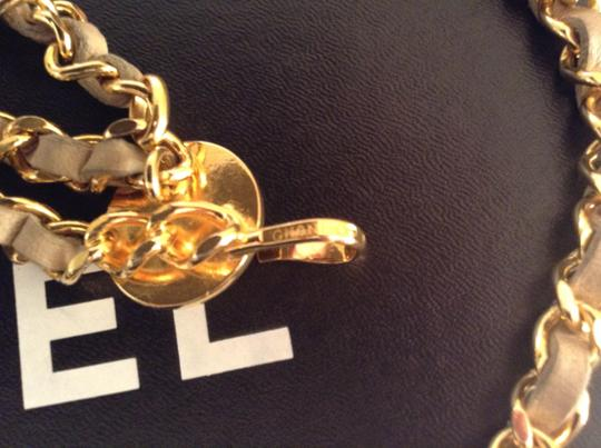 Chanel CHANEL RARE VINTAGE 1984 GOLD PLATED TRIPLE CHAIN CC BELT