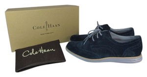 Cole Haan Leather Wingtip Oxford Blue Flats