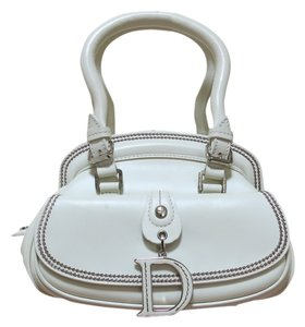 Dior Detetective Detective Clutch White Clutch Tote in Off White