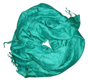 Other PASHMINA Green Paisley Silk Blend Scarf Shawl Wrap