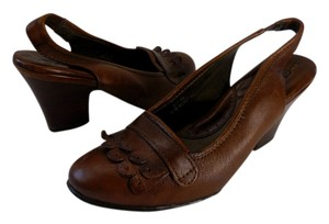 Børn Leather Brown Comfortable Cognac Pumps