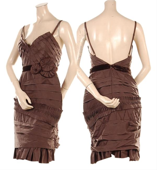Preload https://item5.tradesy.com/images/bcbgmaxazria-bcbg-size-xs-dress-brown-5095264-0-0.jpg?width=400&height=650