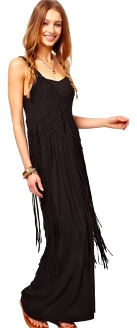Preload https://item4.tradesy.com/images/denim-and-supply-black-fringe-long-casual-maxi-dress-size-4-s-5095288-0-0.jpg?width=400&height=650