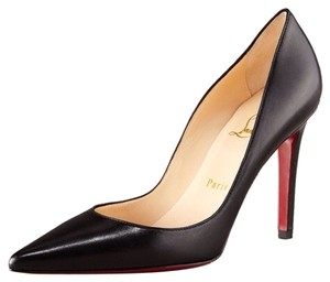 Christian Louboutin Pigalle 100 39.5 9.5 Leather Pointed Toe Classic Louboutin Black Pumps