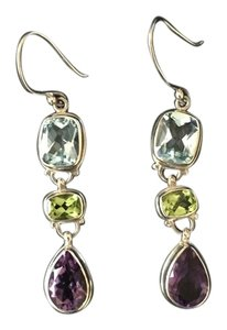 Sterling Silver Semi-Precious Dangle earrings