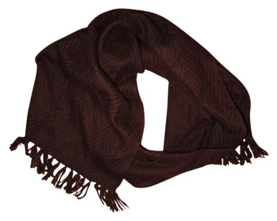 Preload https://item2.tradesy.com/images/unknown-dark-brown-textured-zig-zag-fringed-scarf-5096146-0-0.jpg?width=440&height=440