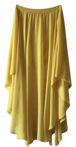 Forever 21 Flowy Maxi Maxi Skirt Yellow
