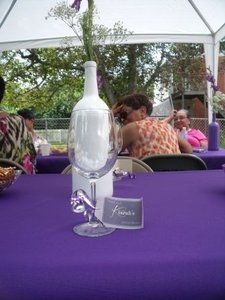 Purple Polyester Tablecloth