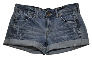 Madewell Denim Cuffed Shorts Blue