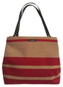 Kate Spade Tote in Tan/red