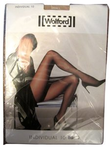 Wolford Wolford Individual 10 Tights Small Nude 80% Nylon 19% Spandex 1% Cotton --$46