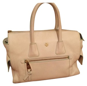 Tory Burch Satchel in Cream And Pale Mint